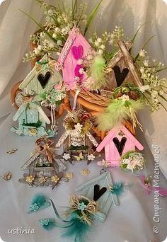 Натворилось ещё домиков и скворечников!!!! Мой МК по ним здесь http://stranamasterov.ru/node/1000482. Скорей бы уже лето!!! Так хочется Ярких цветов!!!! фото 1