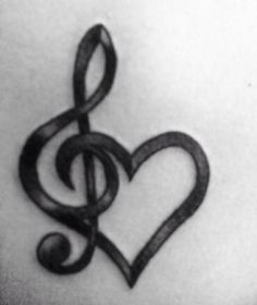 10 Most Beautiful Tattoo Designs for Lovely Women, Tattoo, Music heart tattoo. Music Tattoo Designs, Heart Tattoo Designs, Tattoo Designs For Women, Tattoo Music, Tattoo Women, Music Note Tattoos, Small Music Tattoos, Woman Tattoos, Heart Designs