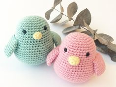 Mine gratis hækleopskrifter – Stine. Diy Crochet And Knitting, Crochet Birds, Crochet Quilt, Crochet For Kids, Crochet Toys, Baby Knitting, Kawaii Crochet, Cute Crochet, Crochet Animal Patterns