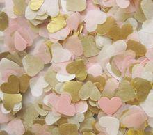 Libérez le bateau lot de 1000 bébé rose or blanc papier de soie coeur confetti wedding table de fête d'anniversaire décoration pinata charges(China (Mainland))