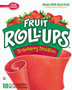 Betty Crocker Fruit Roll-Ups - IMPORTANT: Please read ingredient labels. Manufacturers continually change packaging and processing.
