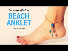 How To Make a Beautiful Leather Summer Anklet - DIY Beach Ankle Bracelet Tutorial - YouTube