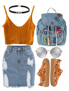 """Geen titel #106"" by dreamer4906 ❤ liked on Polyvore featuring Puma, Topshop and Linda Farrow"