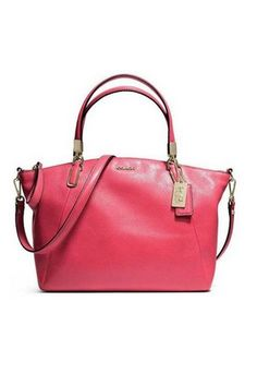 Coach 28095 Madison Small Kelsey Satchel In Leather (Rapsberry)