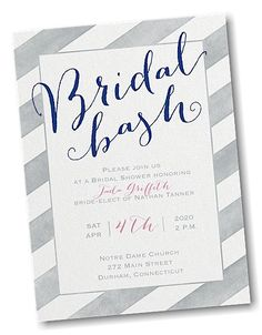 Striped in Style Bridal Shower Invitation