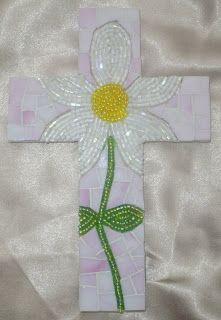 daisy mosaic cross
