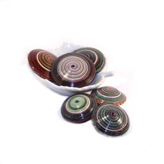 Saucer paper beads