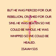 Scriptures, Bible Verses, Isaiah 53 5, Crushes, Healing, Scripture Verses, Bible Scripture Quotes, Recovery, Bible Scriptures