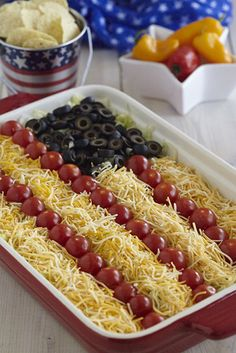 Taco Salad American Flag Dip | Recipes | My Military Savings