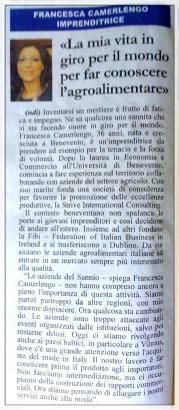 """La mia vita in giro per il mondo con la Strive International Consulting per far conoscere l'agroalimentare Made in Italy"" - su Il Sannio Quotidiano -"