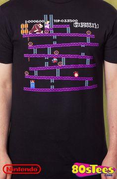 Men/'s Gildan T-Shirt Donkey Kong Original Player Ideal Birthday Present or Gift