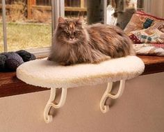 Sometimes the rain makes you sleepy. Try the kitty sill perch, purr-fect for enjoying the rain from afar.