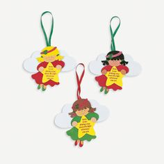 $6.50 - makes 12. Christmas Angel Ornament Craft Kit - OrientalTrading.com