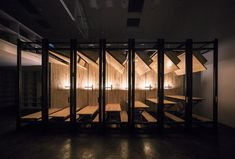 Office Architecture LUO Studio uses retractable desks to turn tiny office into presentation room LUO Studio uses retractable desks to turn tiny office into presentation room Tiny Office, Workplace Design, Chinese Architecture, Cupboard Storage, Wooden Flooring, Room Set, Rustic Decor, Interior Decorating, Presentation