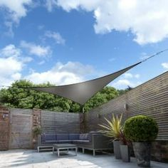 Kookaburra Shade Sails - Protects you from the sun all day long Woven shade sails are the most effective sail shades for offering maximum UV protection. Garden Sail, Garden Sun Shade, Backyard Shade, Garden Canopy, Backyard Canopy, Patio Shade, Patio Gazebo, Outdoor Shade, Outdoor Fun