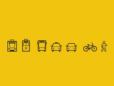 Dribbble - Transportation Icons 2 by Julius Klaus