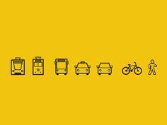 Dribbble - Transportation Icons 2 by Julius Klaus