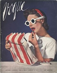 This vintage Vogue cover from July 1939 is getting us in a summery mood! Vogue Vintage, Capas Vintage Da Vogue, Vintage Vogue Covers, Moda Vintage, Vintage Love, Retro Vintage, Vintage Year, Vintage Girls, Vintage Images