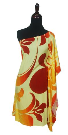 521fc2a3dec6 Hawaiian Aloha Friday One Shoulder Short Dress-Plus Size, Jade ...