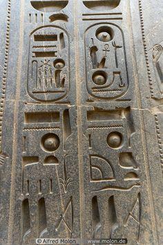 Stone carvings Luxor Egypt