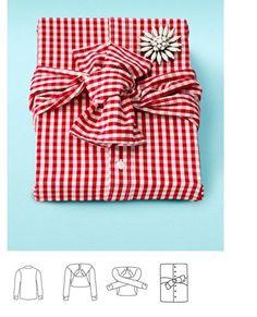 Как завернуть подарок в рубашку
