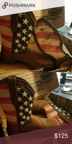 """Mens Durang Rebel """"American Flag"""" Boots Mens size 8D Never been worn Durango Shoes Combat & Moto Boots"""