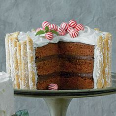 Peppermint-Hot Chocolate Cake | MyRecipes.com