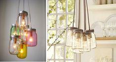 DIY Cómo hacer una lámpara con botes de cristal   el taller de las cosas bonitas