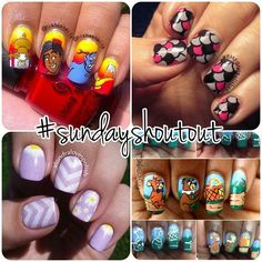 Time for another #sundayshoutout! I love the designs you've been tagging. Here are a few great ones from @nishasnails, @citygirlpolished, @alondralovespolish, and @tonyamoniques! Check them out for more awesome nail art and remember to tag #lookjamy for a chance to be featured!