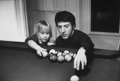 Dustin Hoffman with his daughter Karina, 1969.