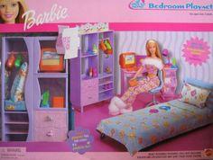 Barbie Around the Home Bedroom playset New Barbie Dolls, Barbie Sets, Mattel Dolls, Barbie And Ken, Girls Furniture, Barbie Furniture, Bedroom Furniture, Playset Slides, Barbie Bedroom