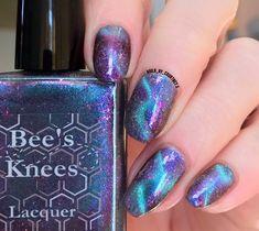Bee's Knees Lacquer: The Magician Elegant Nail Designs, Beautiful Nail Designs, Cool Nail Designs, Glitter Nails, Gel Nails, Acrylic Nails, Nail Polishes, Nail Nail, Nail Polish Art