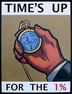 Time's up for the 1% | Anonymous ART of Revolution