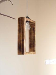 Cute Minimal Wooden Pendant Lighting Shade