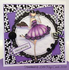 Card available from Little Megs Cards using Stamping Bella Uptown Girl