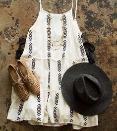 Arrow Embroidered Dress