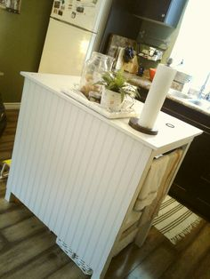 Home made kitchen island for less than $40 Decorating Small Spaces, Kitchen Island, Shabby, Homemade, Home Made, Hand Made, Do It Yourself, Island Kitchen