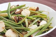 Sesame Green Beans With Mushrooms And Chestnuts Recipe — Dishmaps