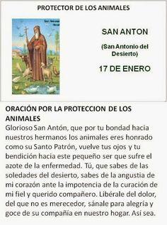 San Anton, protector de los animales.