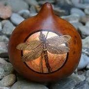 Christmas Gourd Art