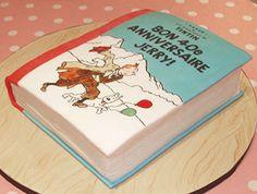 TinTin book cake