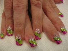 Spring Into Easter, nail art designs by Top Nails, Clarksville TN.