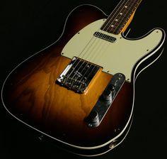"Dealer Select Wildwood ""10 Top"" 1962 Custom Shop Tele Relic Telecaster Custom, Telecaster Guitar, Fender Guitars, Custom Electric Guitars, Custom Guitars, Bass Ukulele, Violin, Fender Squire, Slide Guitar"