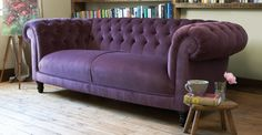 Always wanted a Chesterfield Purple Velvet couch...