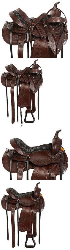 Saddles 47291: Custom 15 16 17 18 Western Pleasure Trail Tooled Horse Leather Saddle Tack Set -> BUY IT NOW ONLY: $299.99 on eBay!