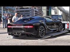 BUGATTI CHIRON getting unloaded in Monaco! - YouTube