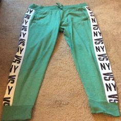 Victoria secret jogger pants Drawstring pants pockets LIKE NEW worn once Victoria's Secret Pants Track Pants & Joggers