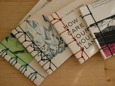 Japanese bookbinding samples