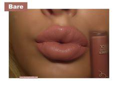 Kylie Velvet Liquid Lipstick in Bare Swatch. Click pic for full post