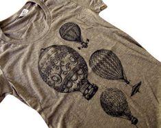 Mens t-shirt Vintage aire caliente globos American por friendlyoak